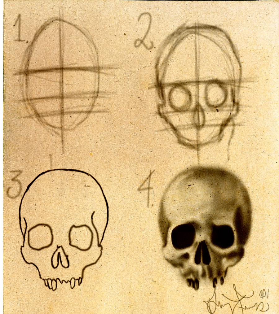 900x1014 How To Draw A Skull Stepbystep By