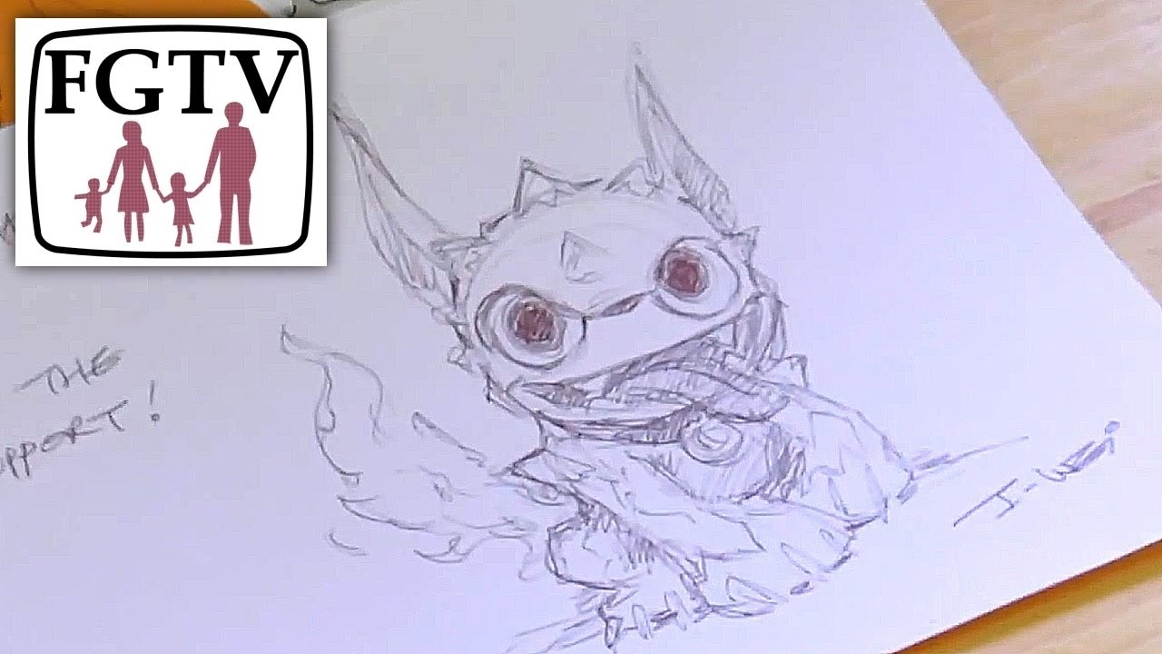 1280x720 How To Draw A Skylander (Part 1 Hot Dog)