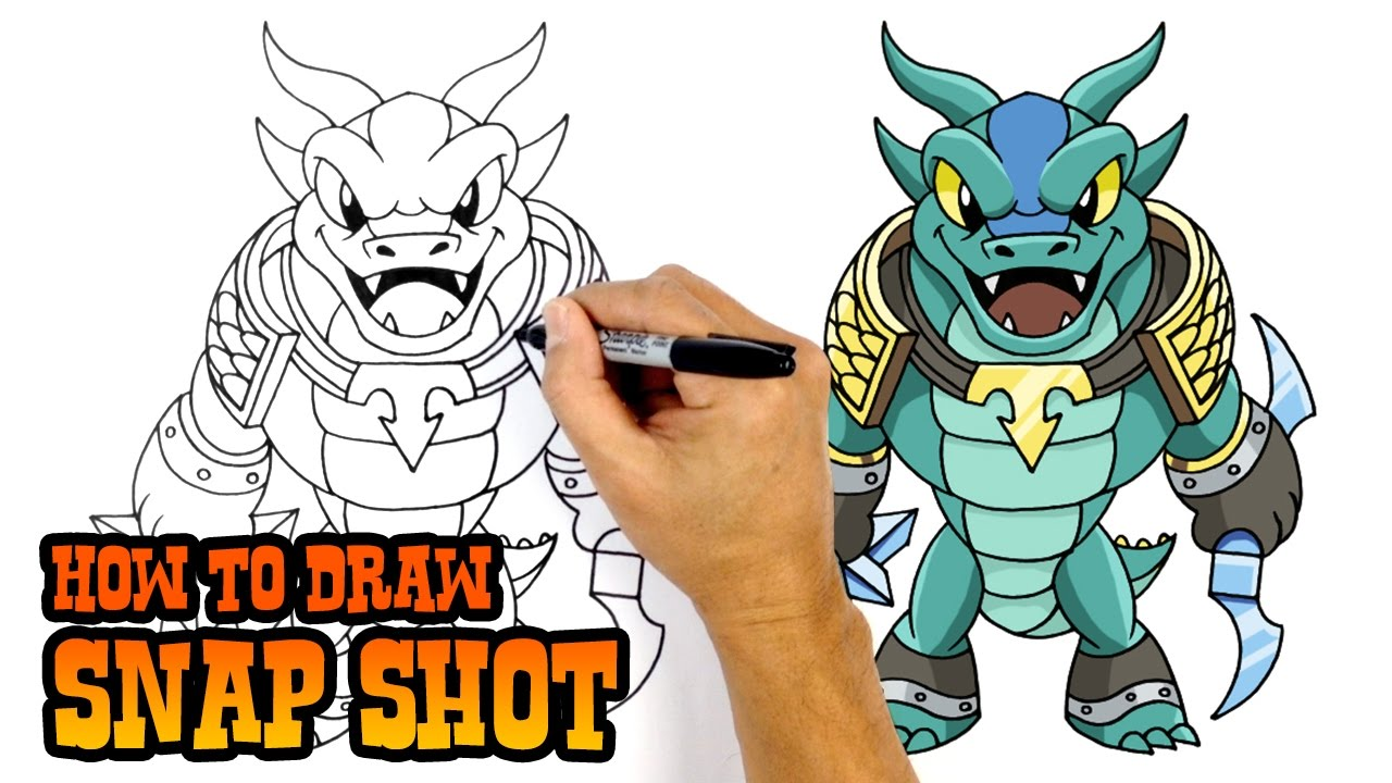 1280x720 How To Draw Snap Shot Skylanders