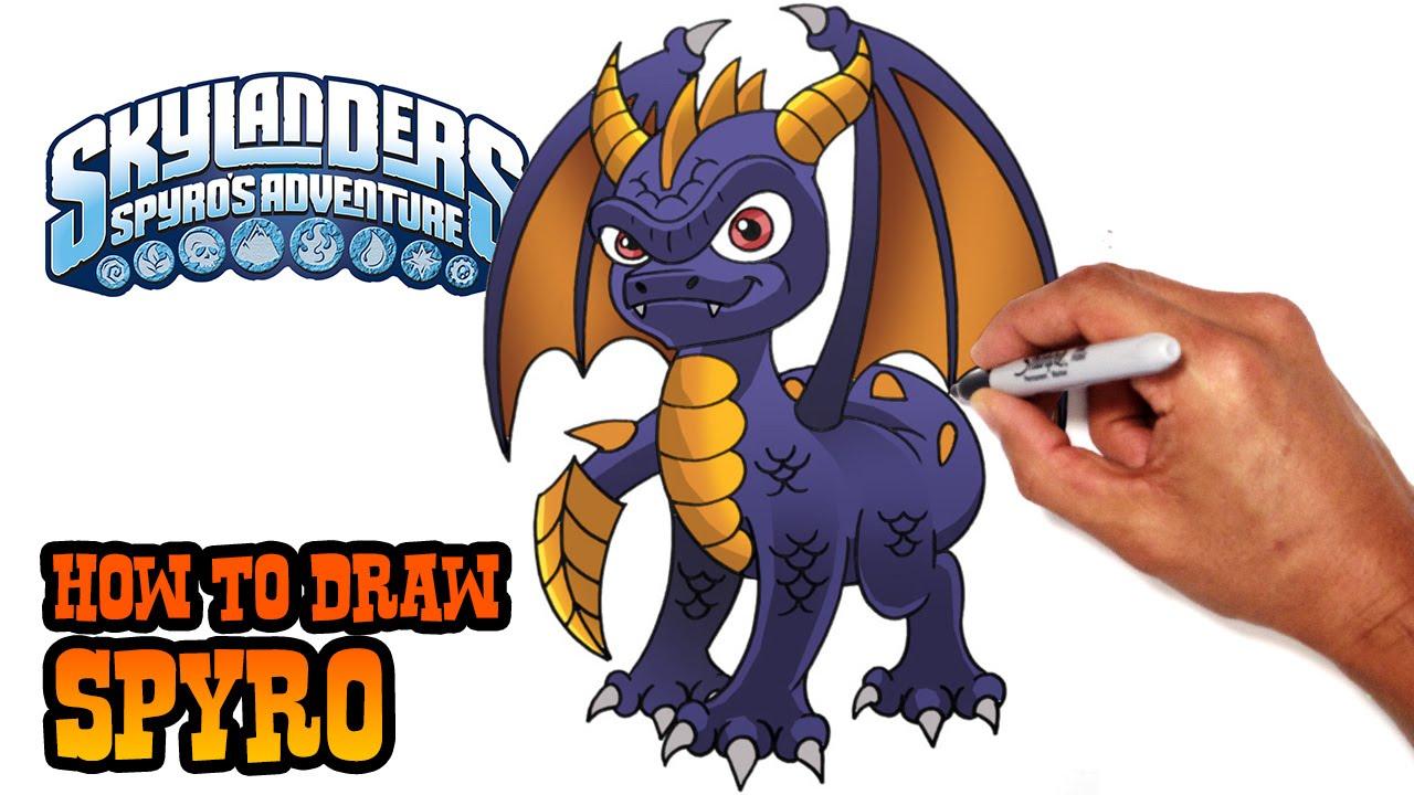 1280x720 How To Draw Spyro Skylanders