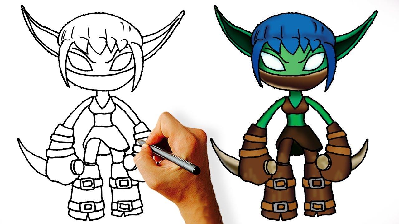 1280x720 How To Draw Stealth Elf (Skylanders)