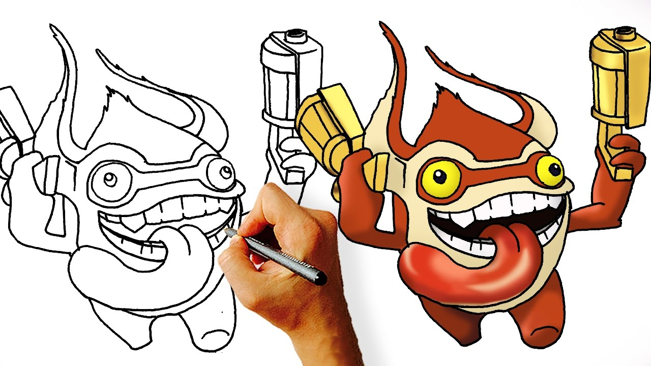 1280x720 How To Draw Trigger Happy From Skylanders