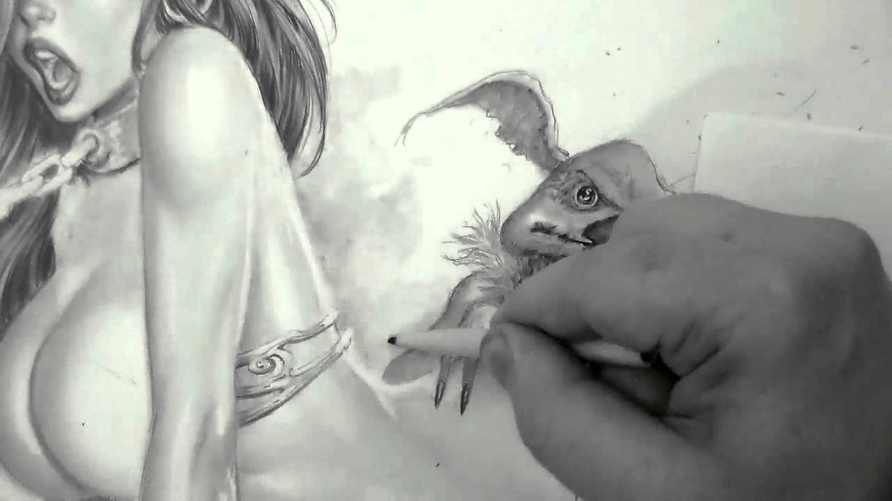 1280x720 Slave Jessica Rabbit And Salacious Crumb Time Lapse Drawing