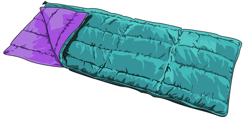 800x398 Sleeping Bag Clip Art