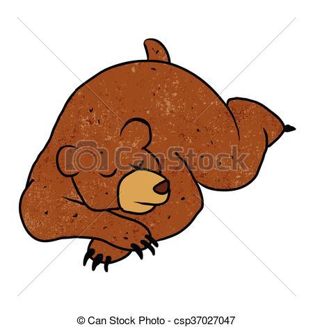 450x470 Sleeping Bear Cartoon.vector Illustration Eps Vector