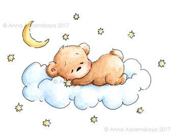 340x270 Sleeping Teddy Bear Etsy