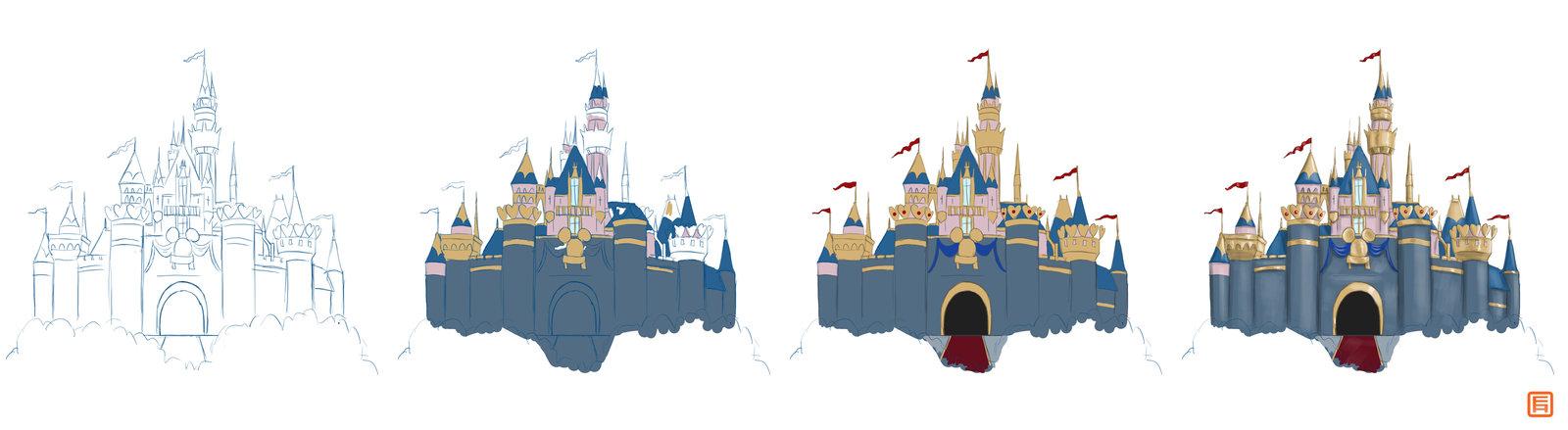 1600x439 Sleeping Beauty's Castle Wips By Bludrgn426