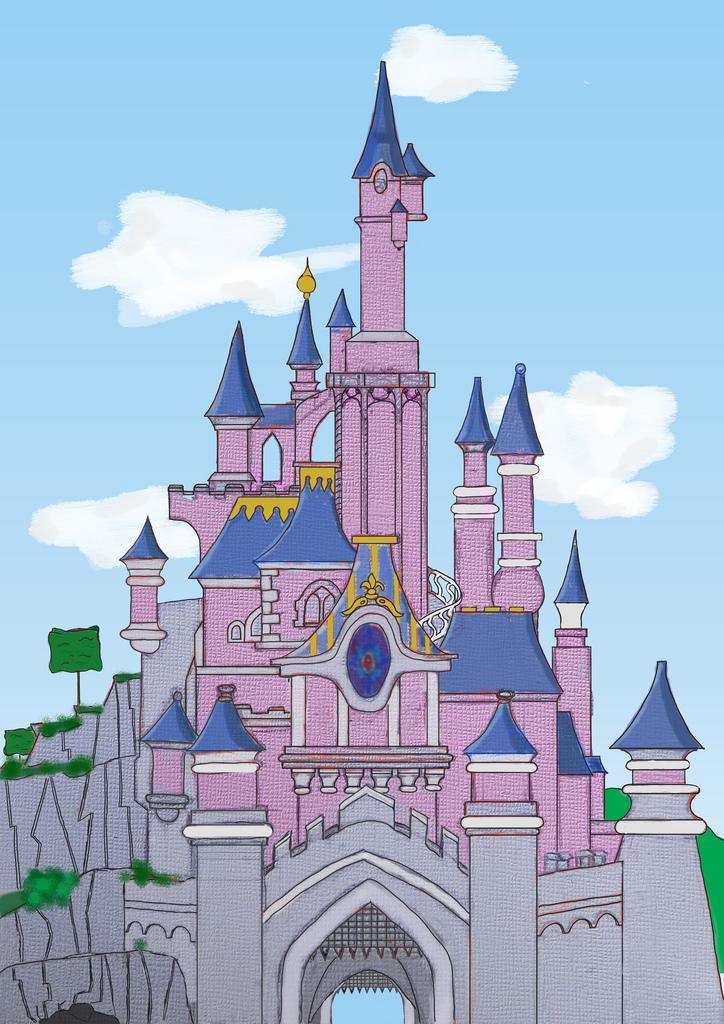 724x1024 Sleeping Beauty Castle (Still Work Needed) My First Hands