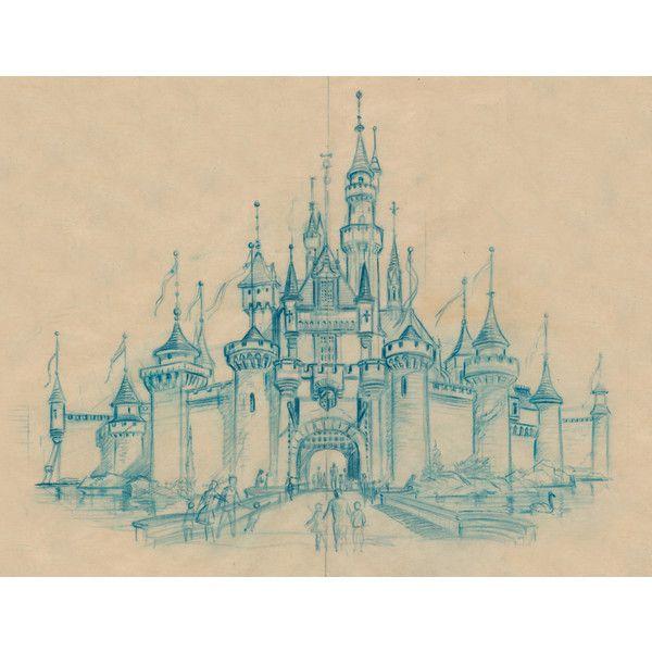 600x600 Sleeping Beauty Castle Sketch, 1955