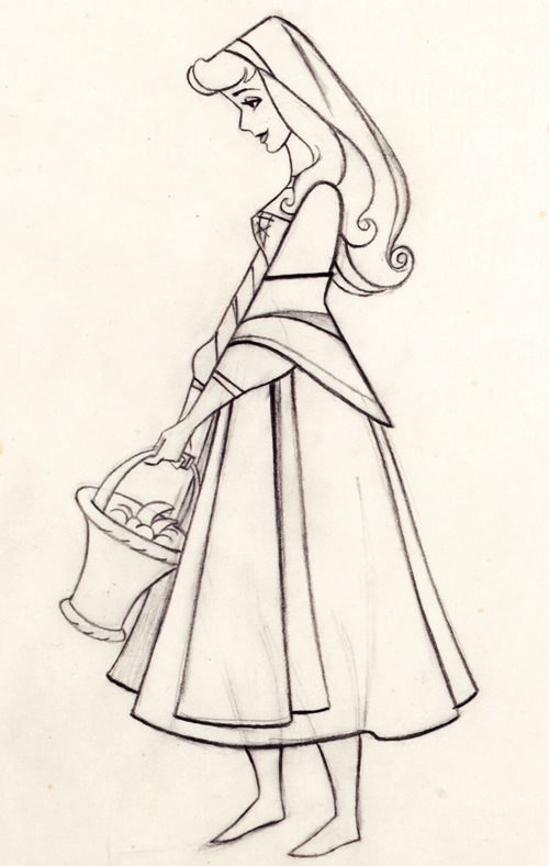 500x788 Disney's Sleeping Beauty Production Drawing Sleeping Beauty