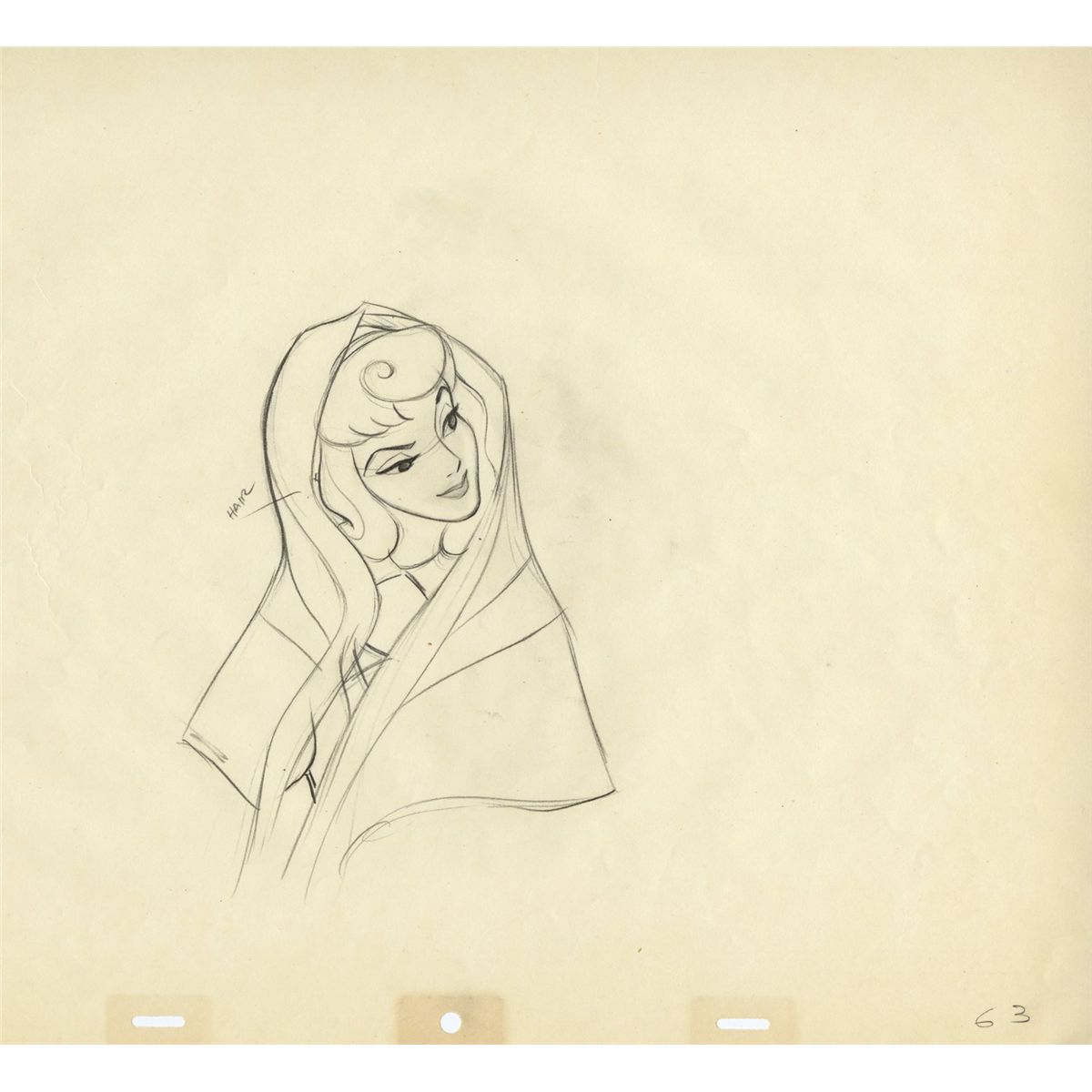 1200x1200 Three Original Production Drawings Of Aurora From Sleeping Beauty