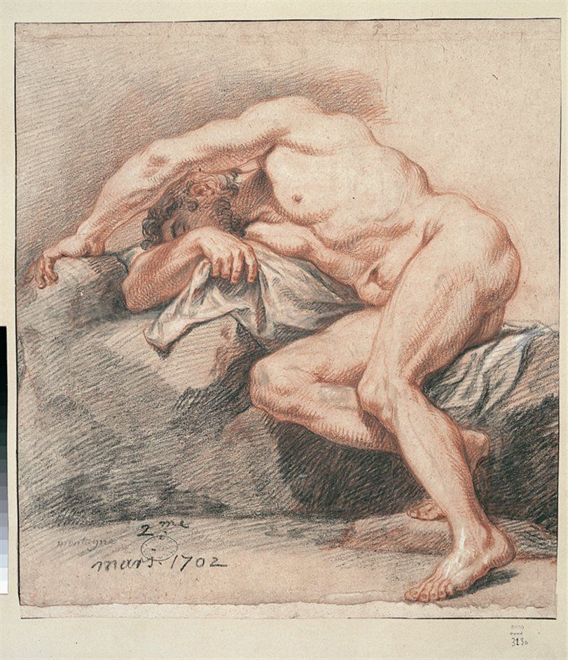 811x942 The Male Nude Eighteenth Century Drawings From The Paris Academy