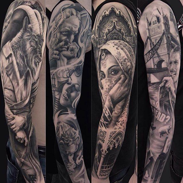 draw leg tattoos for men