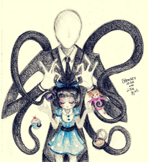 599x655 Slender Man And Victoria By Petunia43