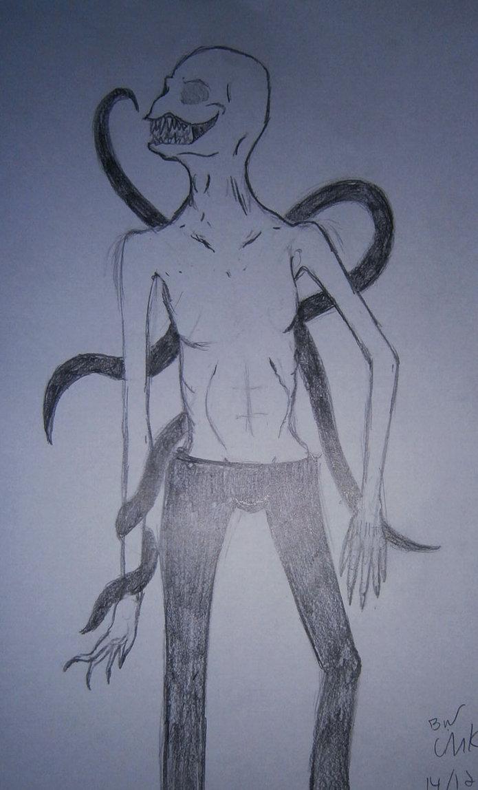 695x1148 Slenderman Drawing By Incursu