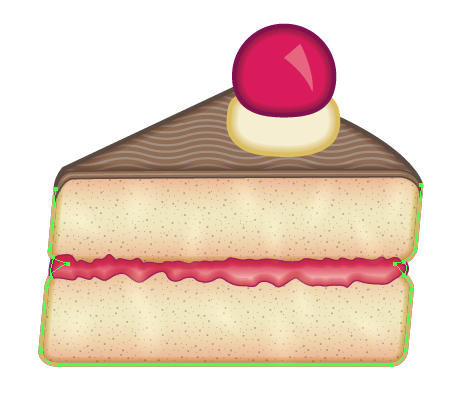 466x399 Creating A Slice Of Cake Icon With Adobe Illustrator
