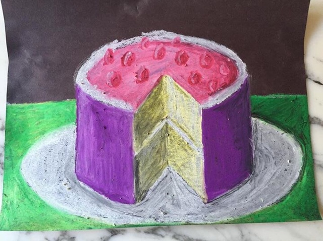 640x478 How To Draw A Cake With A Slice Cut Out