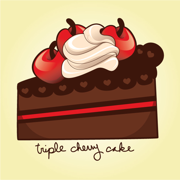 600x602 How To Draw A Sweet Cherry Chocolate Cake Slice In Adobe Illustrator
