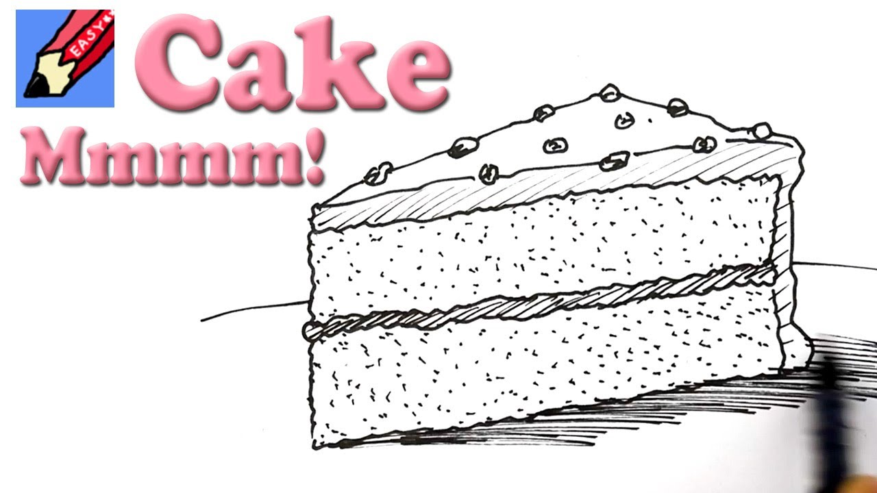 1280x720 How To Draw A Slice Of Cake Real Easy