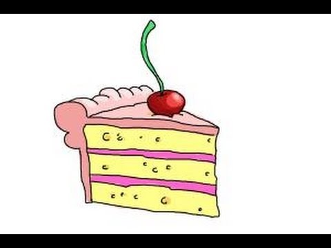 480x360 How To Draw A Slice Of Cake