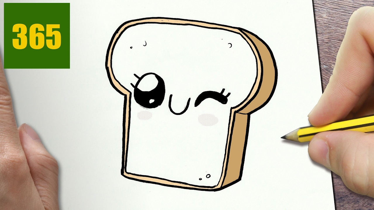 1280x720 How To Draw A Slice Of Bread Cute, Easy Step By Step Drawing
