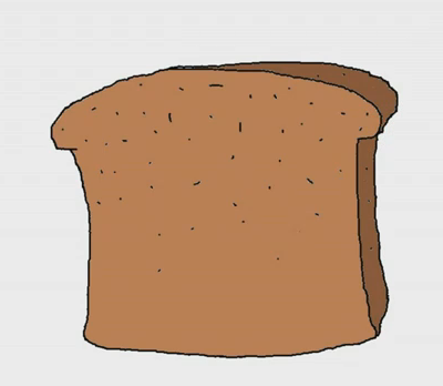 400x348 How To Draw A Slice Of Bread Step By Step How To Draw Faster