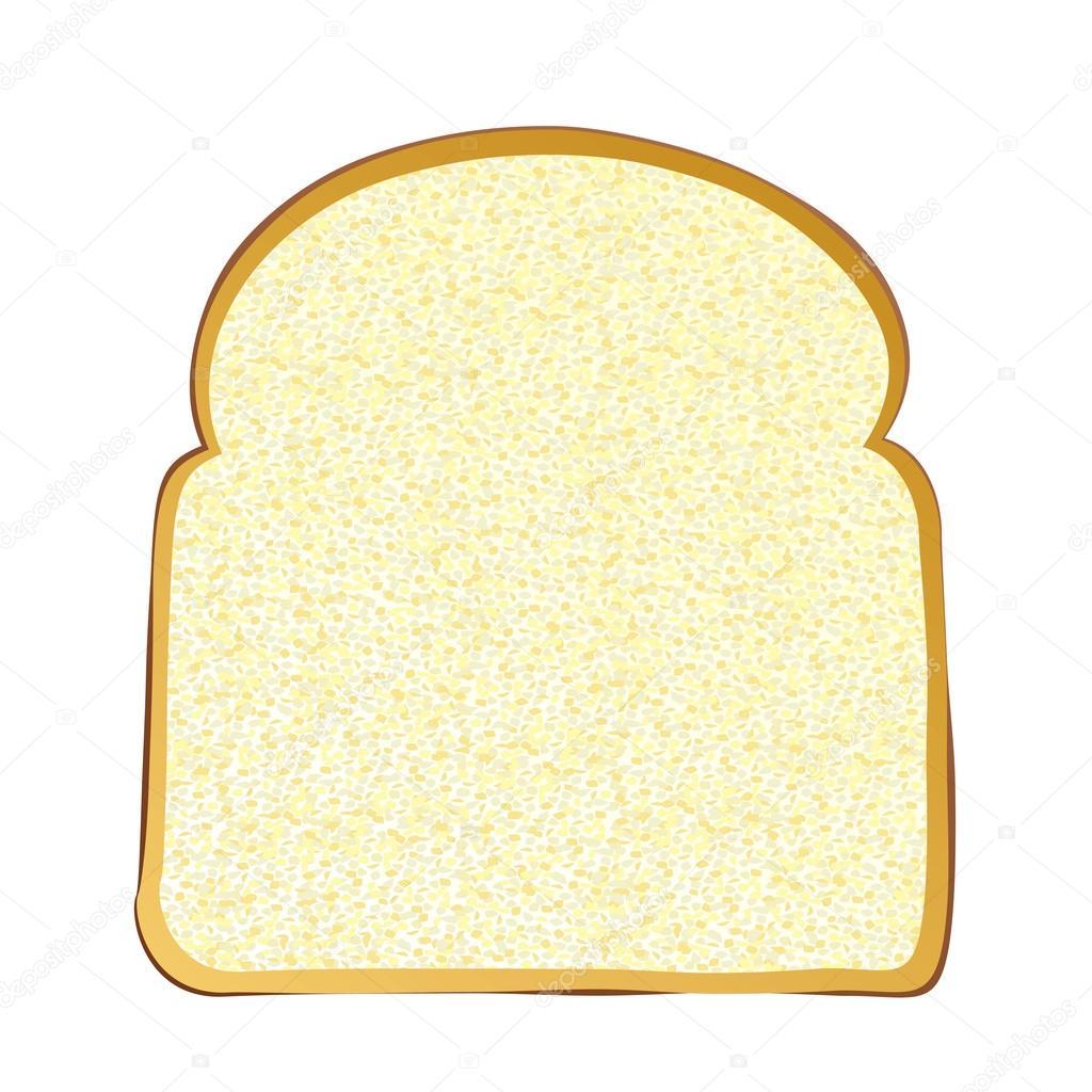 1024x1024 Slice Of White Bread Stock Vector Nicemonkey