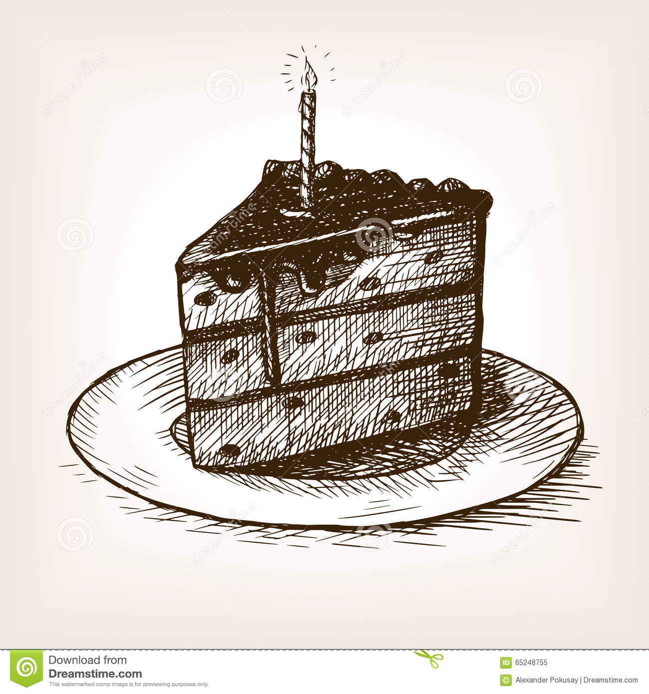 1300x1390 Slice Of Cake Drawing Piece Of Cake Sketch Stock Illustration