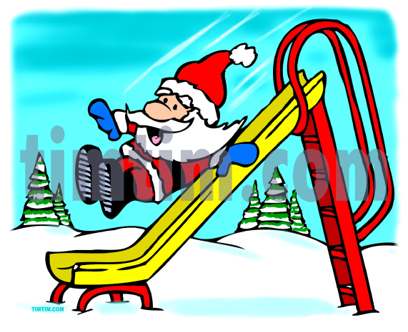 571x466 Free Drawing Of Santas Slide From The Category Christmas