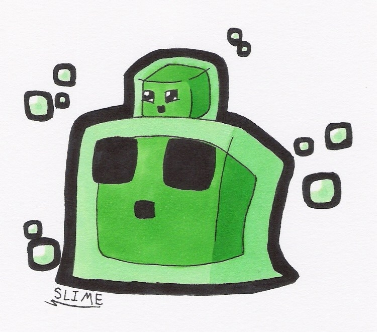 750x660 Minecraft Slime Drawing