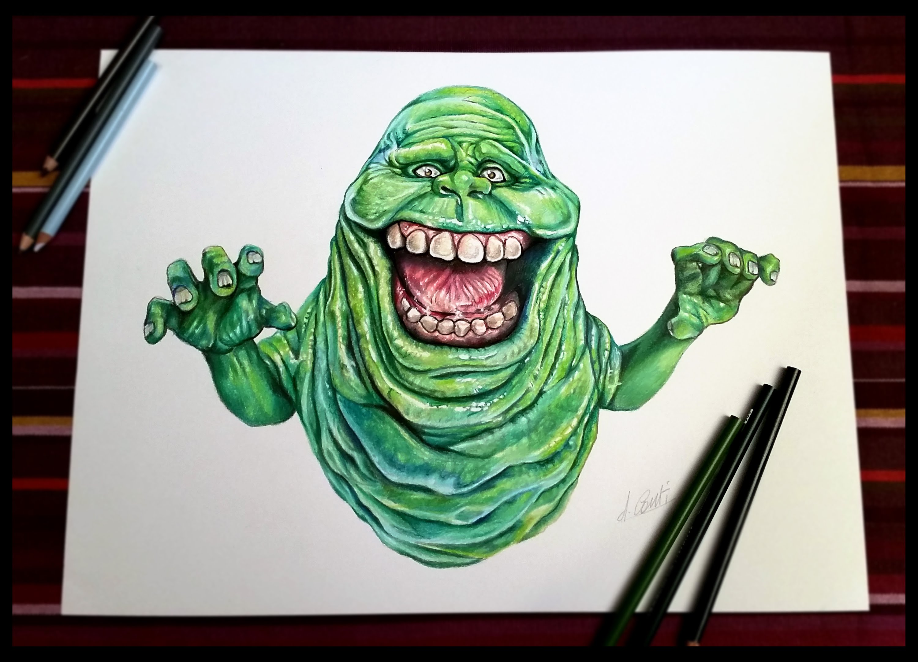 3000x2165 Slimer Ghostbuster (Speed Painting
