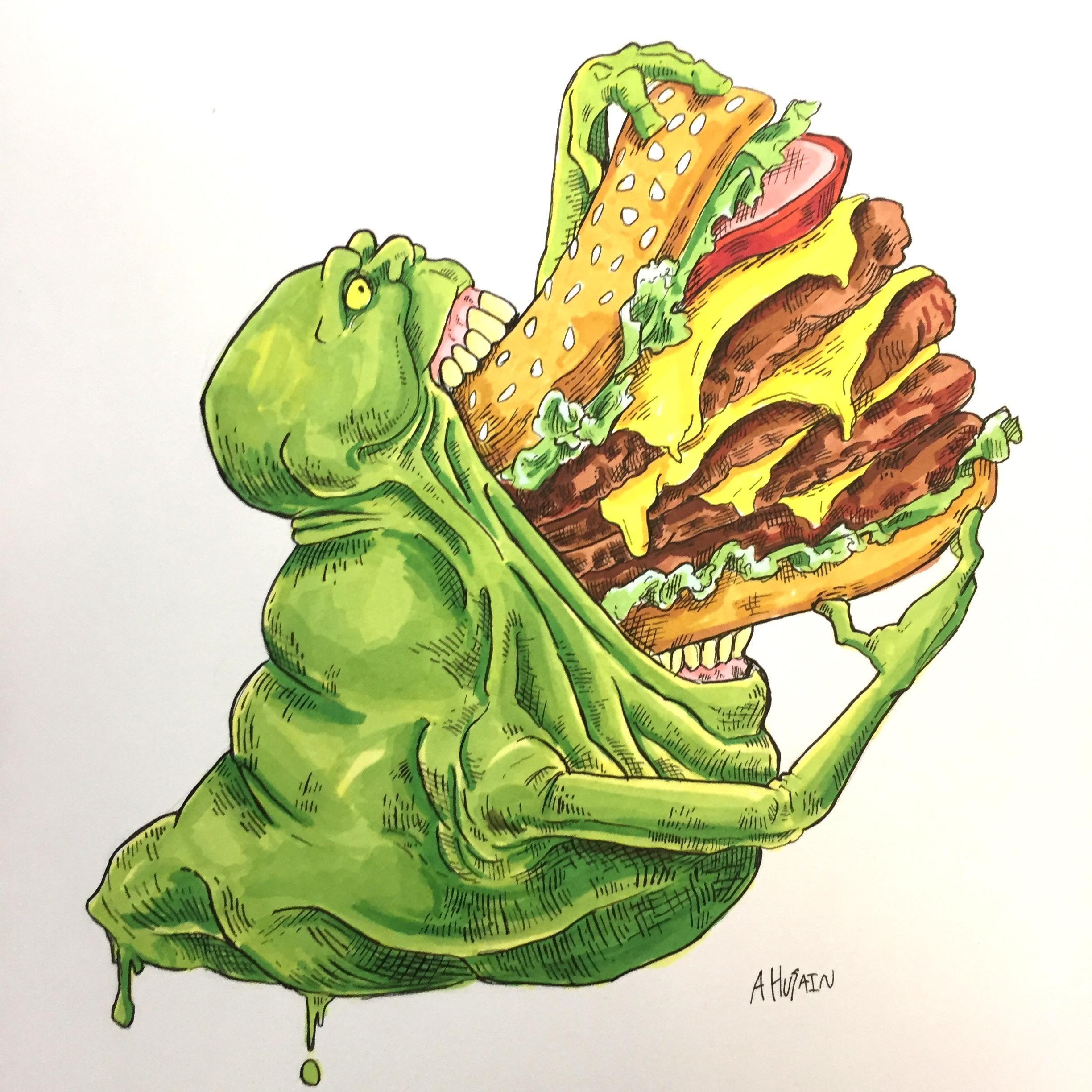 2448x2448 Slimer Drawing I Made Ghostbusters