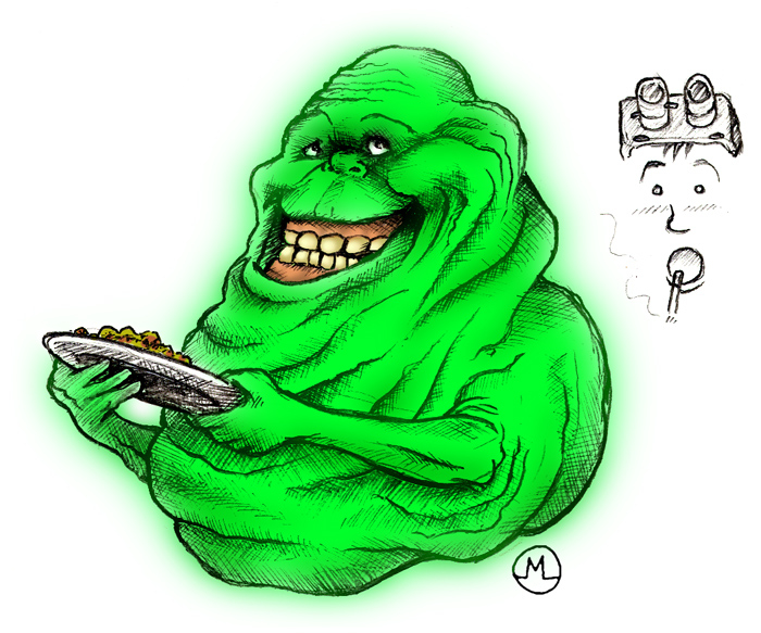 700x583 Slimer Drawing By Me! Ghostbusters Ghostbusters