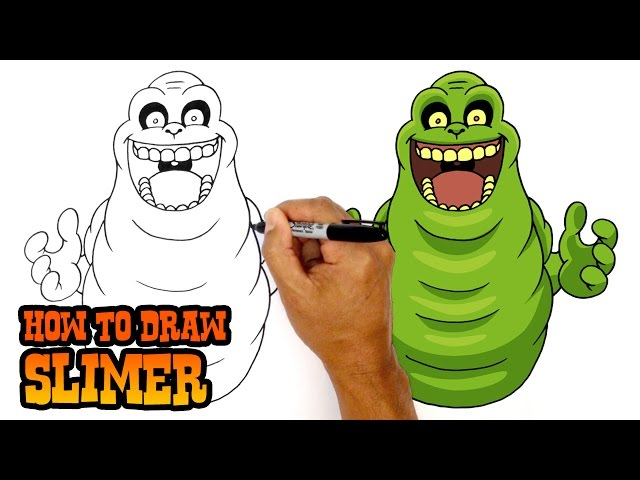 640x480 How To Draw Slimer Ghostbusters