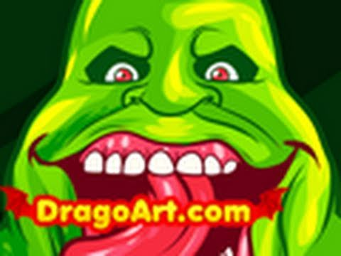 480x360 How To Draw Slimer, Slimer, Ghostbusters, Step By Step
