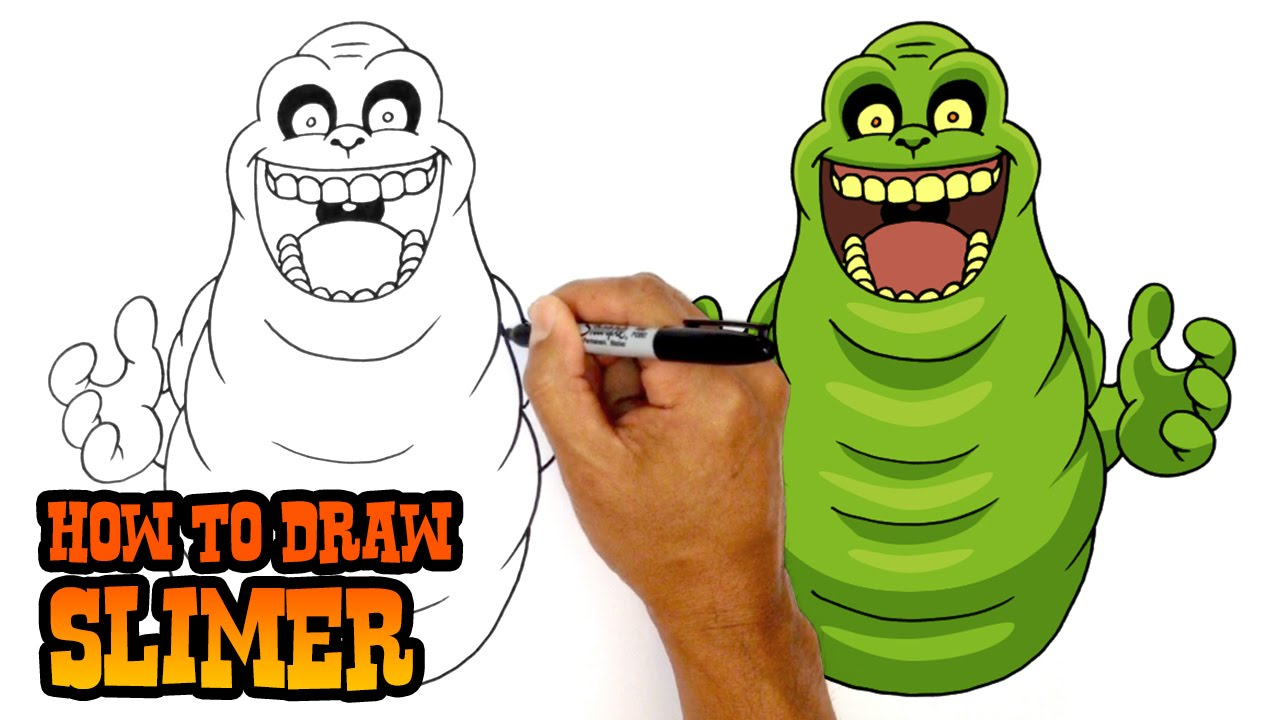 1280x720 How To Draw Slimer Ghostbusters