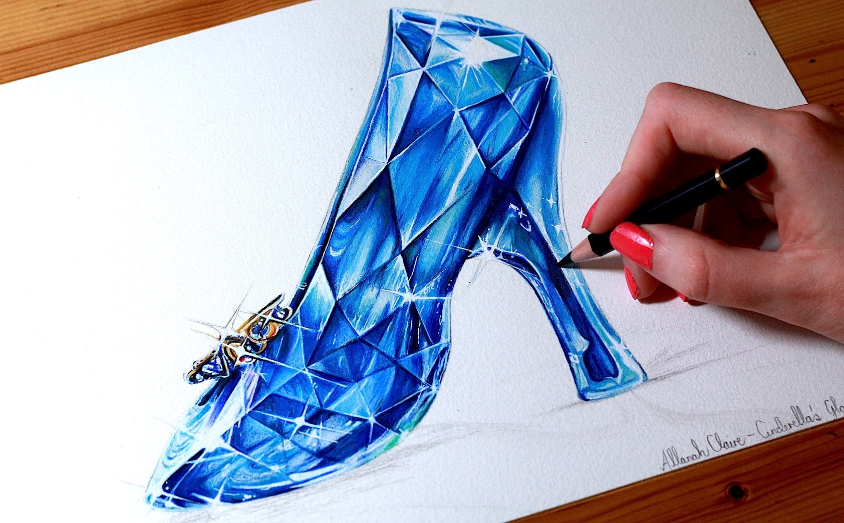 1685x1044 Cinderella Drawing The Glass Slipper