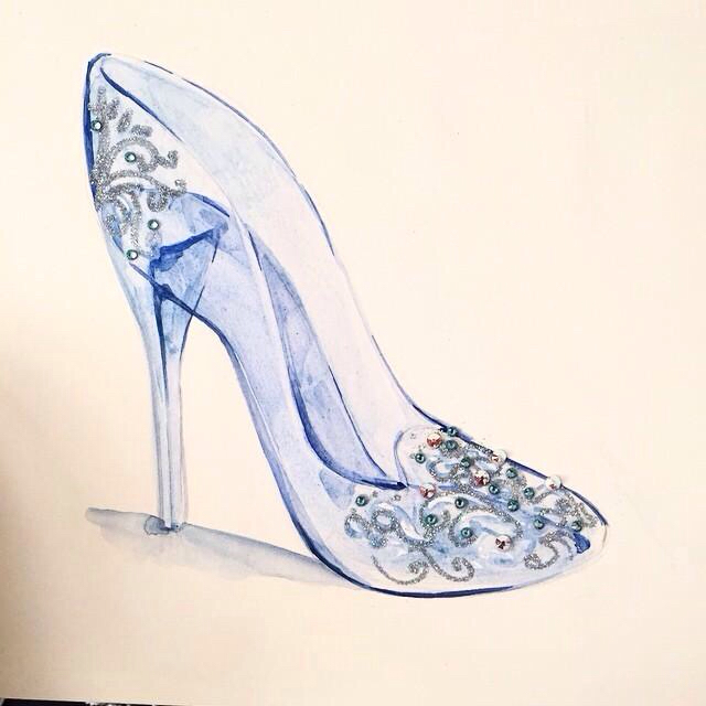 640x640 Cinderella's Glass Slipper Drawings (To Practice Copying
