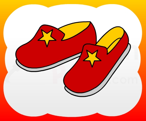 503x415 How2draw4kids How To Draw Slipper For Kids