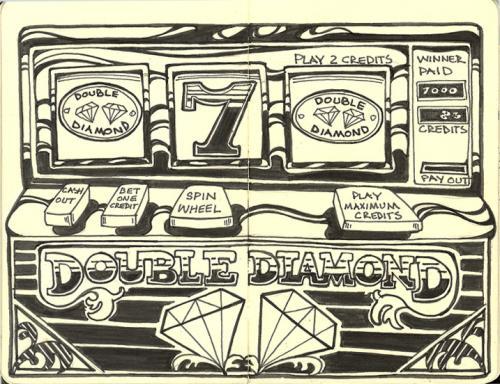 500x384 Slot Machine By Rudat Media Amp Culture Cartoon Toonpool