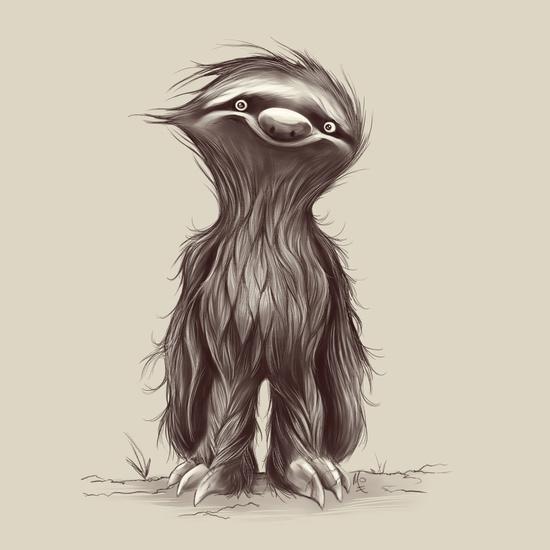 550x550 Animal2 Adam Web Adamv Sloth, Illustrations