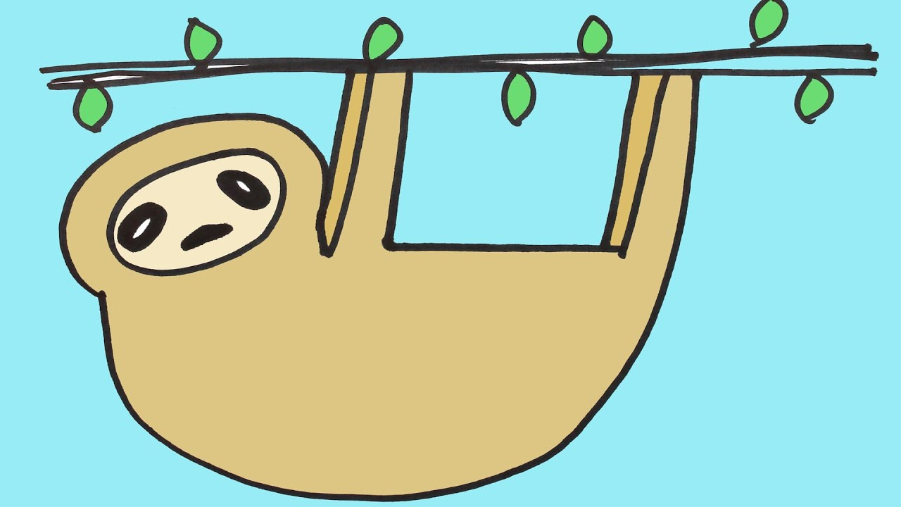 1280x720 Drawing A Sloth Step By Step For Beginners