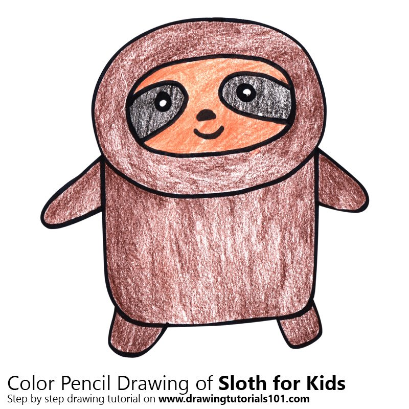800x800 Learn How To Draw A Sloth For Kids (Animals For Kids) Step By Step