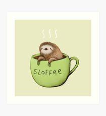 210x230 Sloth Drawing Art Prints Redbubble