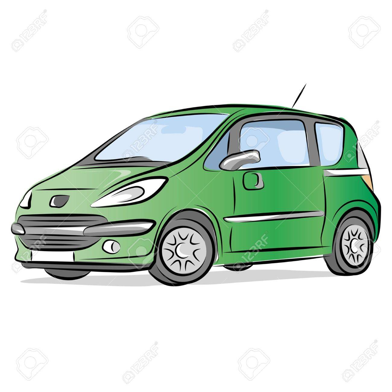 Small Car Drawing at GetDrawings.com | Free for personal use Small ...