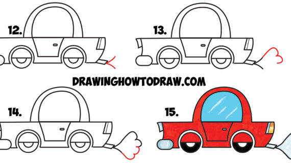 570x320 Simple Drawing Of Car How To Draw Car Learn How To Draw