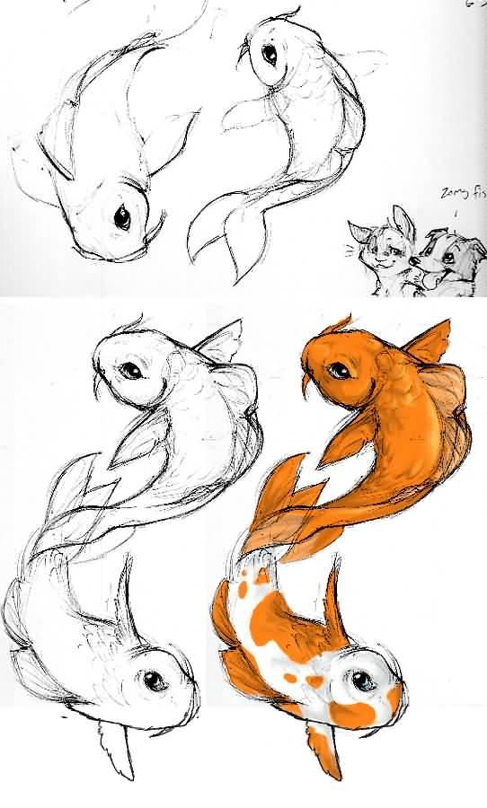 Small Koi Fish | Small Fish Drawing At Getdrawings Com Free For Personal Use Small