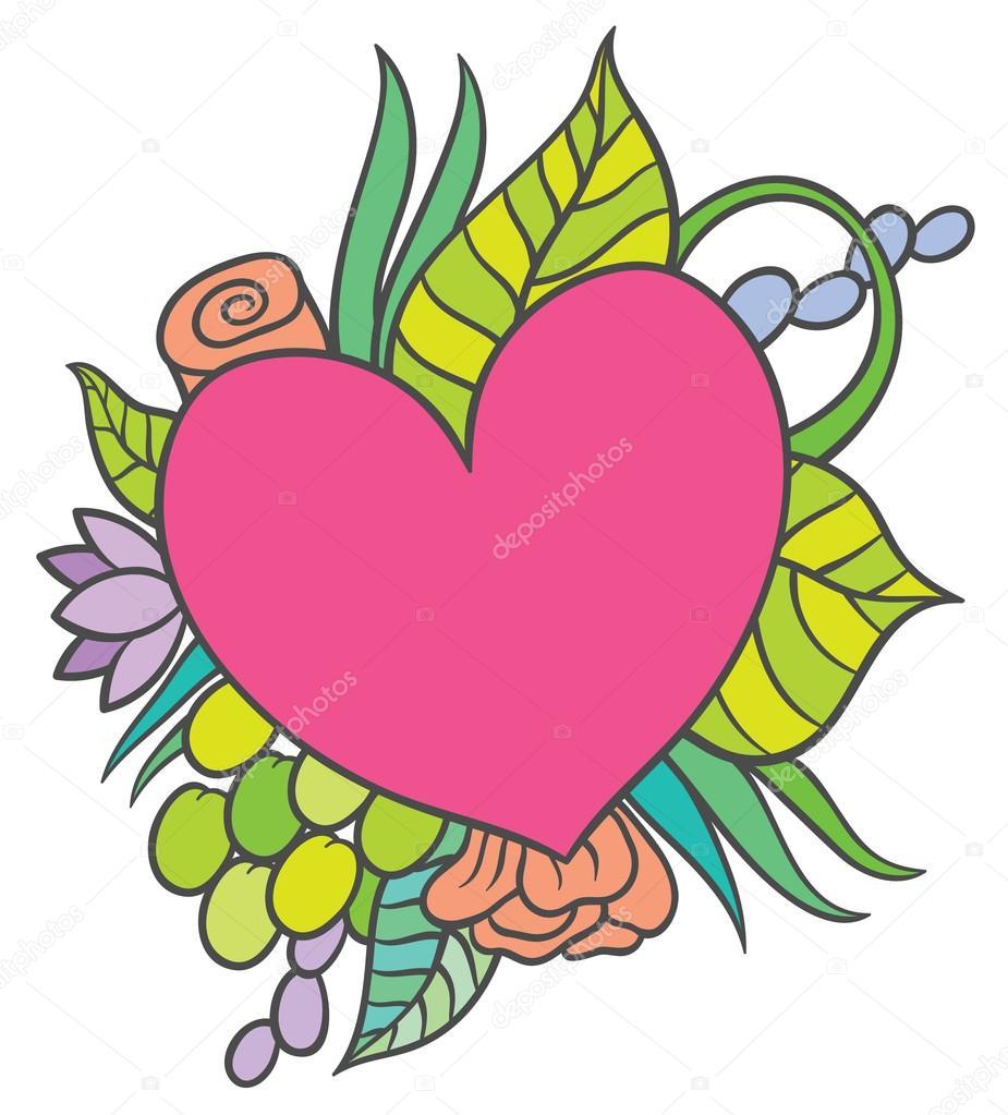 925x1023 Hand Drawing Small Heart Shaped Stock Vector Annasuchkova