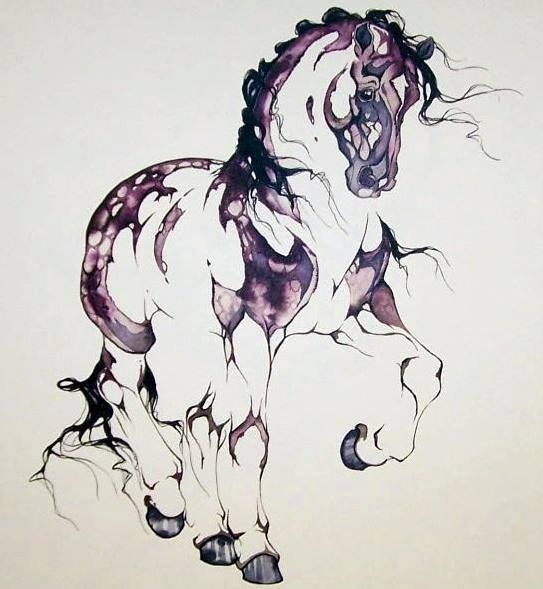 543x589 I Want This Beautiful Horse Tattoo With The Quote That Says