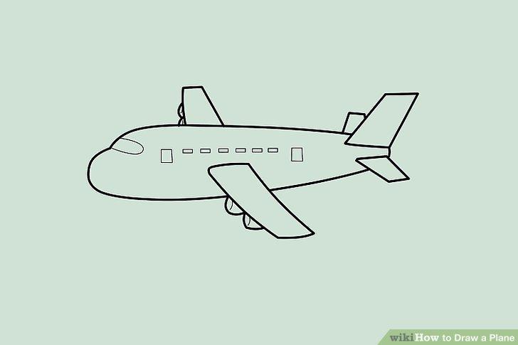 728x485 Small Aeroplane Drawing
